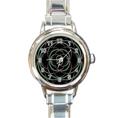 Abstract Spider Web Round Italian Charm Watch by BangZart