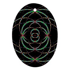 Abstract Spider Web Ornament (oval)