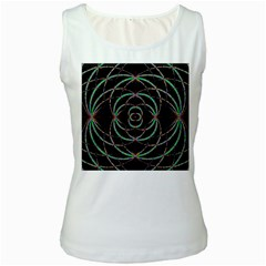 Abstract Spider Web Women s White Tank Top by BangZart