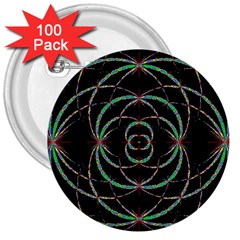 Abstract Spider Web 3  Buttons (100 Pack)  by BangZart