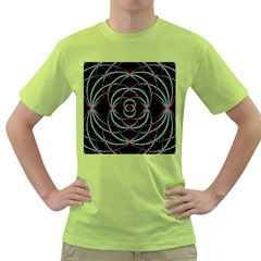 Abstract Spider Web Green T Shirt