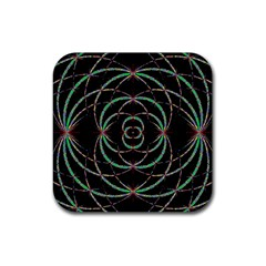 Abstract Spider Web Rubber Coaster (square)