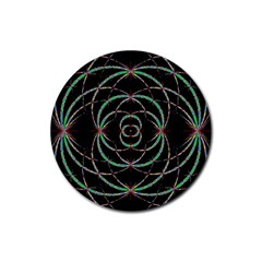 Abstract Spider Web Rubber Coaster (round)  by BangZart