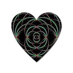 Abstract Spider Web Heart Magnet by BangZart