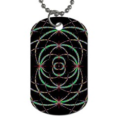 Abstract Spider Web Dog Tag (one Side) by BangZart