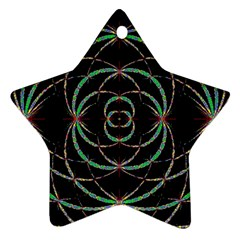 Abstract Spider Web Star Ornament (two Sides)