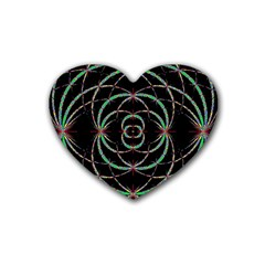 Abstract Spider Web Rubber Coaster (heart)  by BangZart