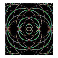 Abstract Spider Web Shower Curtain 66  X 72  (large)  by BangZart