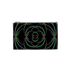 Abstract Spider Web Cosmetic Bag (small)  by BangZart