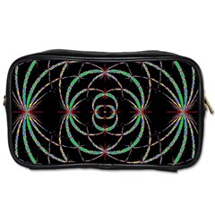 Abstract Spider Web Toiletries Bags
