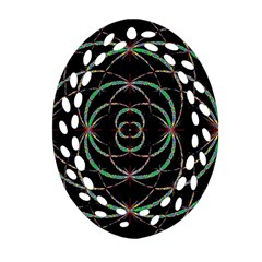 Abstract Spider Web Oval Filigree Ornament (two Sides) by BangZart