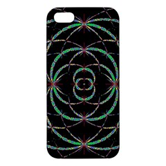 Abstract Spider Web Apple Iphone 5 Premium Hardshell Case by BangZart