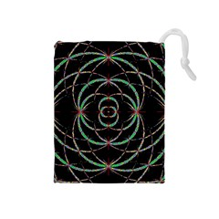 Abstract Spider Web Drawstring Pouches (medium)  by BangZart