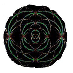 Abstract Spider Web Large 18  Premium Flano Round Cushions by BangZart