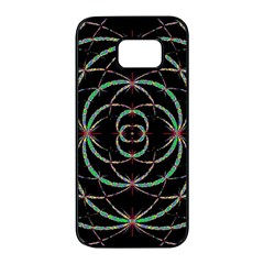 Abstract Spider Web Samsung Galaxy S7 Edge Black Seamless Case by BangZart
