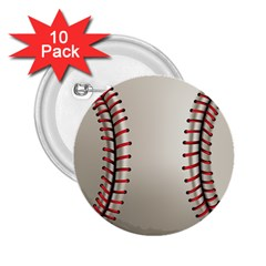 Baseball 2 25  Buttons (10 Pack)  by BangZart