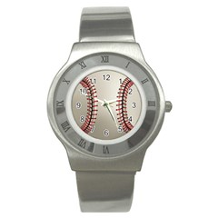 Baseball Stainless Steel Watch