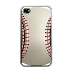 Baseball Apple Iphone 4 Case (clear) by BangZart