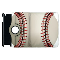 Baseball Apple Ipad 3/4 Flip 360 Case by BangZart