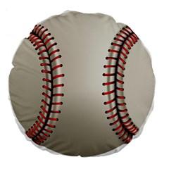 Baseball Large 18  Premium Flano Round Cushions by BangZart