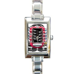 Car Engine Rectangle Italian Charm Watch by BangZart