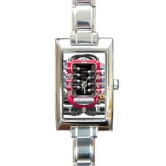 Car Engine Rectangle Italian Charm Watch
