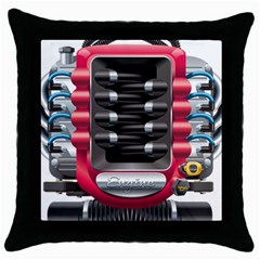 Car Engine Throw Pillow Case (black) by BangZart