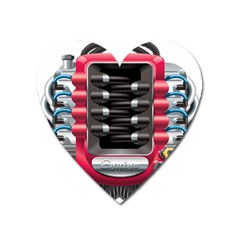 Car Engine Heart Magnet by BangZart