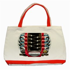 Car Engine Classic Tote Bag (red)