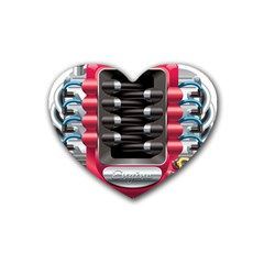 Car Engine Rubber Coaster (heart)  by BangZart