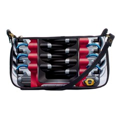 Car Engine Shoulder Clutch Bags by BangZart