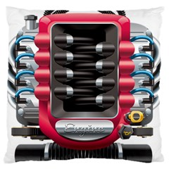 Car Engine Large Cushion Case (two Sides) by BangZart