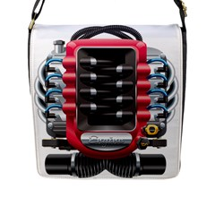 Car Engine Flap Messenger Bag (l)  by BangZart