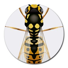 Wasp Round Mousepads by BangZart