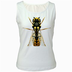 Wasp Women s White Tank Top