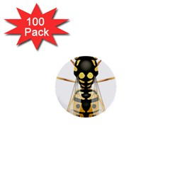Wasp 1  Mini Buttons (100 Pack)