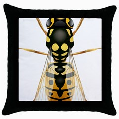 Wasp Throw Pillow Case (black) by BangZart