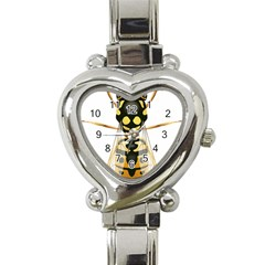 Wasp Heart Italian Charm Watch