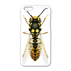 Wasp Apple Iphone 6/6s White Enamel Case by BangZart