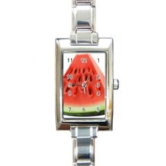 Piece Of Watermelon Rectangle Italian Charm Watch by BangZart