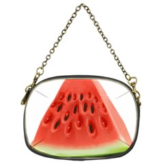 Piece Of Watermelon Chain Purses (two Sides)