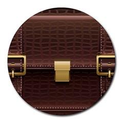 Brown Bag Round Mousepads