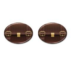 Brown Bag Cufflinks (oval)