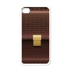 Brown Bag Apple Iphone 4 Case (white) by BangZart