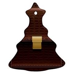 Brown Bag Ornament (christmas Tree)