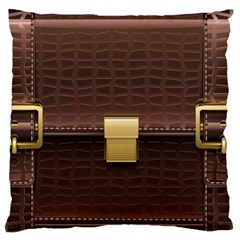 Brown Bag Large Cushion Case (two Sides) by BangZart