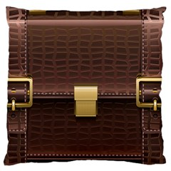 Brown Bag Large Flano Cushion Case (two Sides)