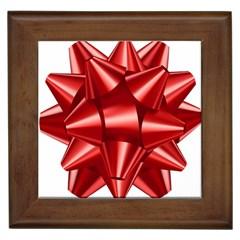 Red Bow Framed Tiles