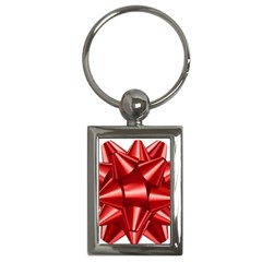 Red Bow Key Chains (rectangle)