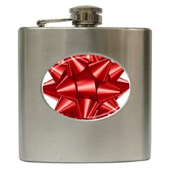 Red Bow Hip Flask (6 Oz)